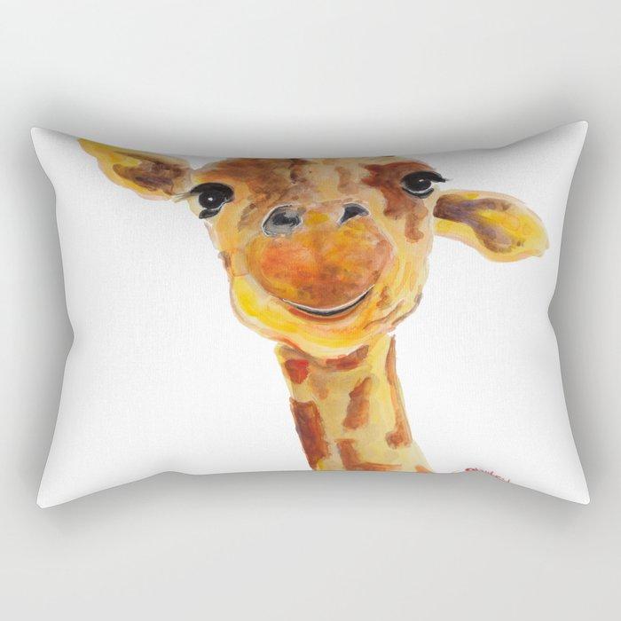 Cute Giraffe ' TOMMY ' by Shirley MacArthur Rectangular Pillow