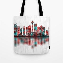 Seattle Washington Skyline Tote Bag