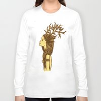 antlers Long Sleeve T-shirts featuring Antlers by MorningMajor