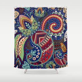 Colorful khohloma pattern Shower Curtain