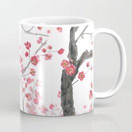 red plum flower forest Coffee Mug