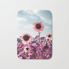 Pink Sunflowers Bath Mat