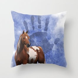 Ethnic Horse Throw Pillow