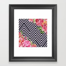 flowers geometric  Framed Art Print