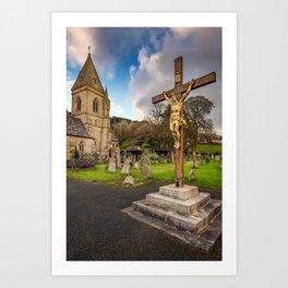 Pantasaph Church Crucifixion Art Print