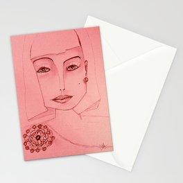 Emerald Brooch Stationery Cards