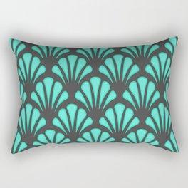 Art Deco Shell Shape Rectangular Pillow