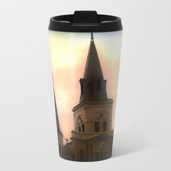 Saint Louis Cathedral Metal Travel Mug