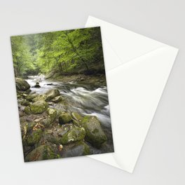 Mountain Stream in the Smoky Mountains Stationery Cards
