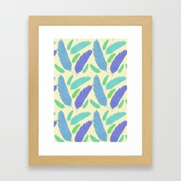 Patterned Feather Pattern Framed Art Print