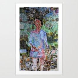 Girl with a Music Box Art Print