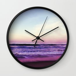 Purple Morning Haze Wall Clock