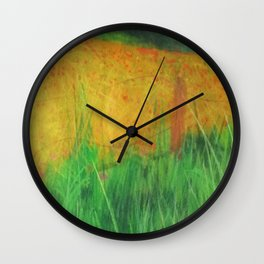Barbed Wire Poppies Wall Clock