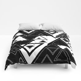 Triangle black and white Comforters