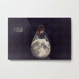 Grab The Moon Metal Print