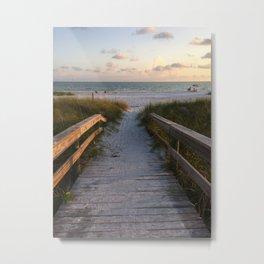 Beach Boardwalk Metal Print