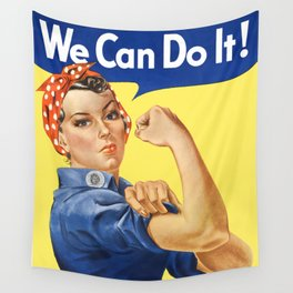 We Can Do It - Rosie the Riveter Poster Wall Tapestry