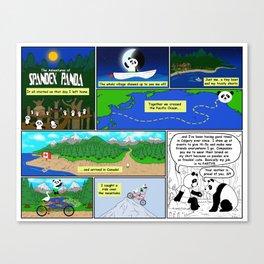 Spandex Panda - Comic 2 - Original Story Canvas Print