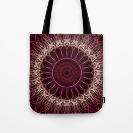 Ruby Mandala Tote Bag