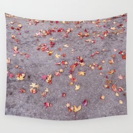 Autumn leaves, colours, gutters in Vancouver, BC Wall Tapestry