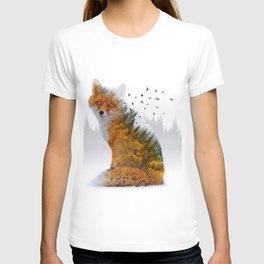 Wild I Shall Stay   Fox T-shirt