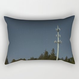 Transmissions in the dead of the night Rectangular Pillow