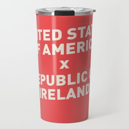USA vs Ireland - Commemorative Match Poster Travel Mug