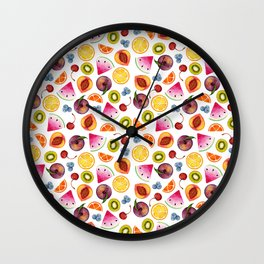 Watercolor Fruit Painting Wall Clock