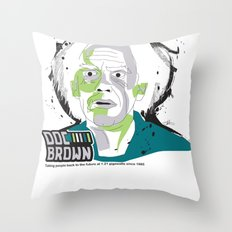 Doc Brown_INK - Back to the Future Throw Pillow