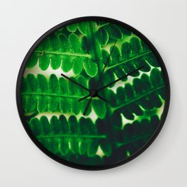Electric Green Fern Wall Clock