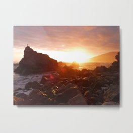 Big Sur's Rocky Shore Sunset Metal Print