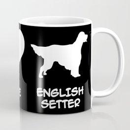 Peace, Love, English Setter Coffee Mug