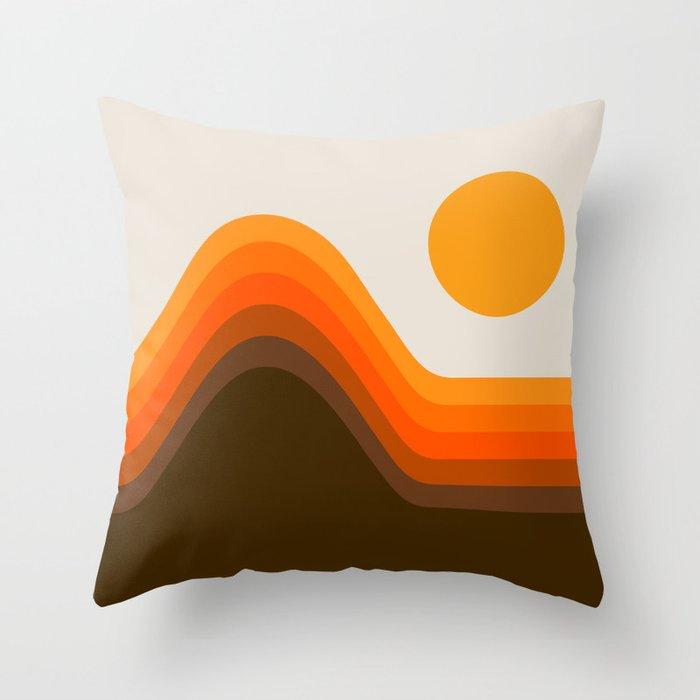 Golden Horizon Diptych - Left Side Throw Pillow