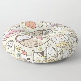 The owling Floor Pillow