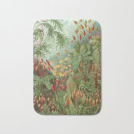 Scientific Illustration of Moss in the Forest -  Haeckel, 1904 Bath Mat