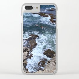 Rough waters Clear iPhone Case