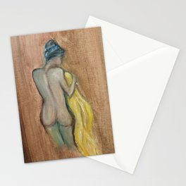 Demure Female Nude Stationery Cards