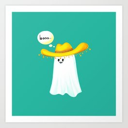 Mr Boo Art Print