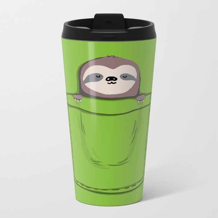 My Sleepy Pet Metal Travel Mug