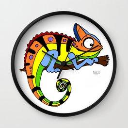 Lucky Chameleon Wall Clock