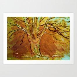 Burnished Birch Tree Art Print