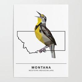 Montana – Western Meadowlark Poster
