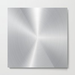 Light silver-gray Bushed aluminum texture Metal Print