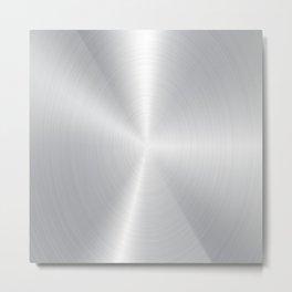 Light silver-gray Bushed aluminum texture Metal Print