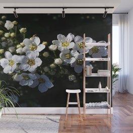 White apple blossom Wall Mural