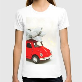 Red Car Christmas Present (Color) T-shirt