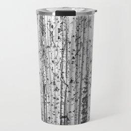 Forest in Black & White Travel Mug
