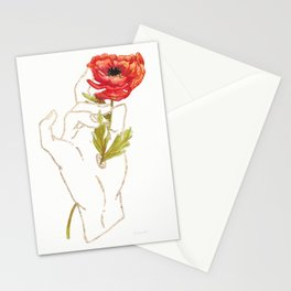 Poppy - Gold (Gilded Hands Series) Stationery Cards