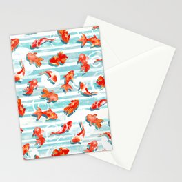 Watercolor Goldfish Stationery Cards