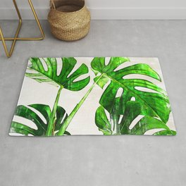 Green Leaf Monstera Plant - For plant lovers. Rug